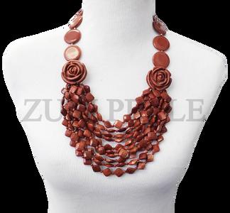 Zuri Perle  brown goldstone handmade necklace african inspired nigerian jeweler