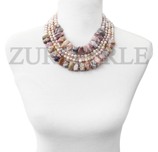 Zuri Perle  pink opal handmade necklace african inspired nigerian jeweler