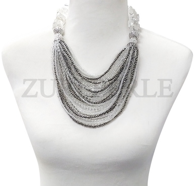 Zuri Perle  quartz handmade necklace african inspired nigerian jeweler