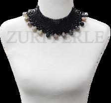 Zuri Perle  onyx tourmaline handmade necklace african inspired nigerian jeweler