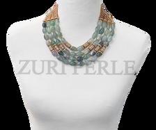 Zuri Perle  fluorite handmade necklace african inspired nigerian jeweler