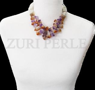 Zuri Perle  ametrine handmade necklace african inspired nigerian jeweler