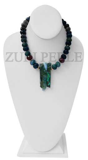 Zuri Perle Fancy Jasper Handmade necklace African Inspired Jewelry Nigerian Jeweler