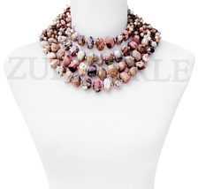 Pink Opal Quality African Beads Nigerian Wedding African Jewelry Sets Bold Statement Necklace Made in America