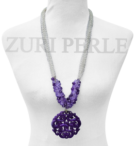 Women Handcrafted  Amethyst Necklace Made in America