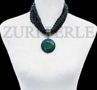 Chic, unique Jadeite necklace designed and handmade at the Zuri Perle Studio in Missouri, U.S.A