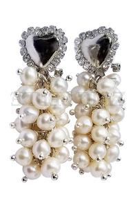 IFE - Women Handcrafted White Pearl Earrings Made in America