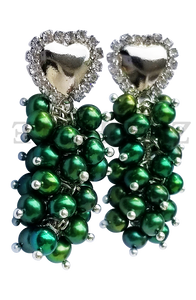 IFE - Women Handcrafted Green Pearl Earrings Made in America