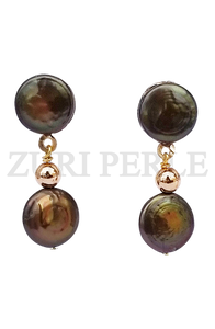 Women Handcrafted Coin Pearl Earrings Made in America