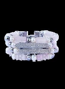 ADUKE - Women Handcrafted Pearl Pink Quartz Bracelet Made in America