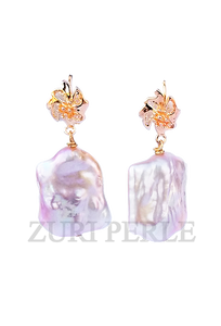 AINA - Women Handcrafted Baroque Pearl Earrings Made in America