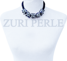 SADE - Women Handcrafted Pearl Lapis Necklace Made in America