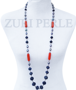 TOKE - Women Handcrafted Pearl Coral Necklace Made in America
