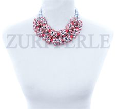 ODUN - Women Handcrafted Pearl Coral Necklace Made in America