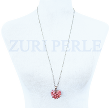 Women Handcrafted Coral Pendant Necklace Made in America