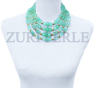 Women Handcrafted Jadeite Necklace Made in America - AMA
