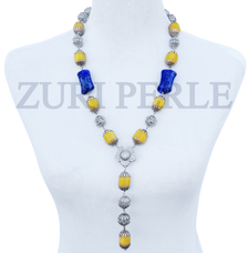 Women Handcrafted Lapis Necklace Made in America - SIM