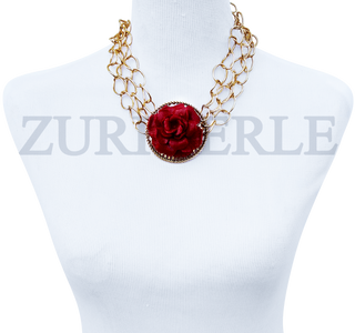 Women Handcrafted RedCoral Necklace Made in America - EDE