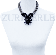 Women Handcrafted Blue Goldstone Necklace Made in America - OREN