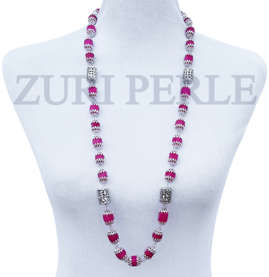 Women Handcrafted Pink Jadeite Necklace Made in America - MAYO