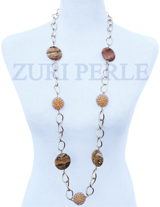 Women Handcrafted Jasper Necklace Made in America - AMI