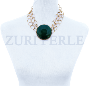 Women Handcrafted Green Jadeite Necklace Made in America - EDE