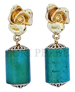 Women Handcrafted Turquoise Earrings Made in America - SIM