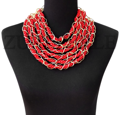IRE  - Women Handcrafted Coral  Necklace Made in America