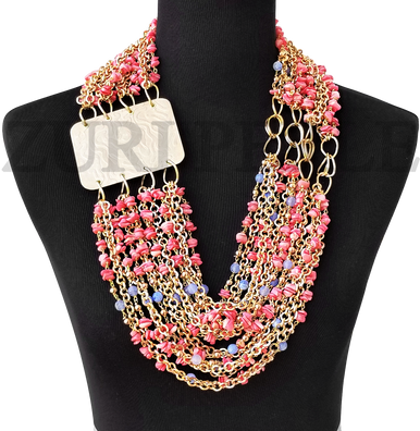 Women Handcrafted Pink Coral  Necklace Made in America