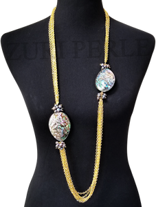 JEJE  - Women Handcrafted Abalone  Necklace Made in America