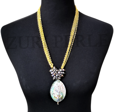 ONA - Women Handcrafted Abalone Pearl Necklace Made in America