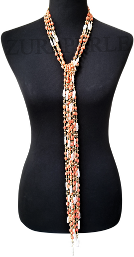 PADA - Women Handcrafted Coral Pearl Necklace Made in America