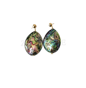 JEJE  - Women Handcrafted Abalone Earring Made in America