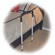 Simple to use handle assembly slides under mattress to provide a safe and secure grip for assistance getting into and out of bed