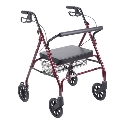 Drive Medical Go-Lite Bariatric Steel Rollator (10215RD-1)