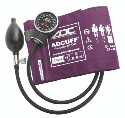 ADC Diagnostix 703 Palm Aneroid  Sphygmomanometer Model ADC720-11AV Color Purple