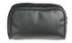 Multi-pocketed heavy duty black nylon zipper case.