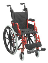 Drive Medical Wallaby Pediatric Wheelchair RED