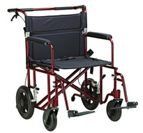 "Drive Medical 22"" Bariatric Aluminum Transport Chair"