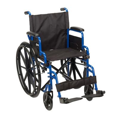 Drive Medical Blue Streak Wheelchair - Swing-away Footrests