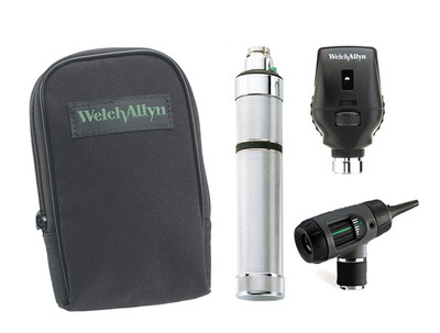 Welch Allyn Diagnostic Set, Nic-cad Handle, Macro View With Throat Illuminator, Soft Case - Model 97101-M