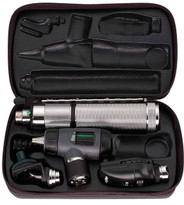 Welch Allyn Diagnostic Set, Nic-cad Handle, Macro View With Throat and Nasel Illuminator, Coaxial, Hard Case - Model 97210-M