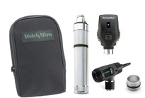 Welch Allyn Diagnostic Set, Nic-cad Handle With C Cell Battery Converter, Macro View With Throat Illuminator, Coaxial, Soft Case- Model 97201-MC