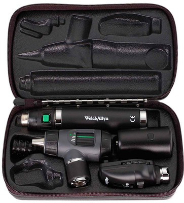 Welch Allyn Diagnostic Set, Lit-Ion Handle With Macro View With Throat Illuminator, Hard Case- Model 97100-MS