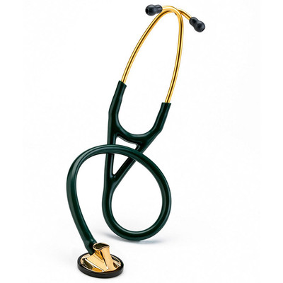 3M Littmann Master Cardiology Stethoscope hunter Green tubing brass Chestpiece
