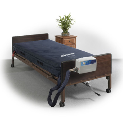 """Drive Medical Med-Aire Essential 8"""" Alternating Pressure and Low Air Loss Mattress System"""