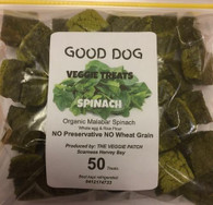 SPINACH VEGGIE DOG TREATS- 50 pack (Veggie Patch) *CF