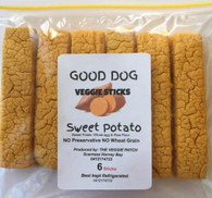 SWEET POTATO VEGGIE DOG STICKS- 6 pack (Veggie Patch) *CF
