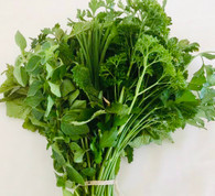 MIXED BUNCH 2 Types Parsley & Chives- 100g Bunch (Veggie Patch, Chemical Free)
