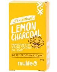 Coconut Oil Soap- Lemon & Charcoal
